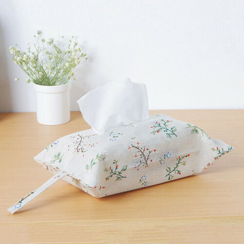 Dining Table Glitter Tissue Box Holder Cover Napkin Case For Car Office MA