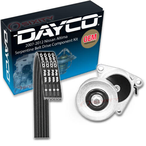Dayco Serpentine Belt Drive Component Kit for 2007-2012 Nissan Altima 2.5L xh