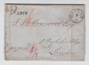 Hannover-Vorphila-1851-Brief-von-GOSLAR-K1-nach-London-England-prepaid
