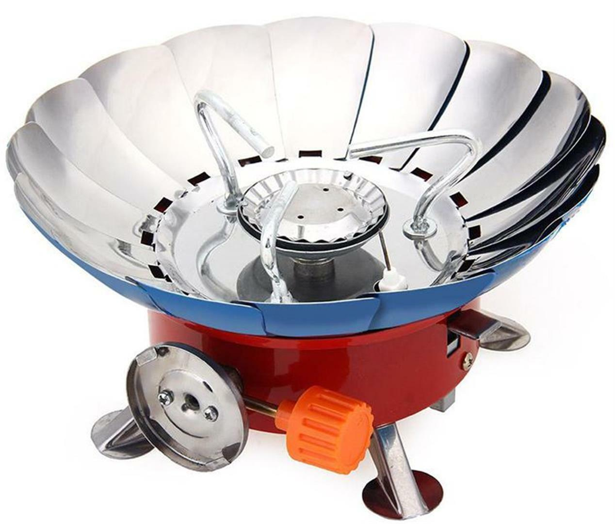 Butane Gas Stove Portable Mini Windproof Outdoor Cooker 2800W with Storage Bag
