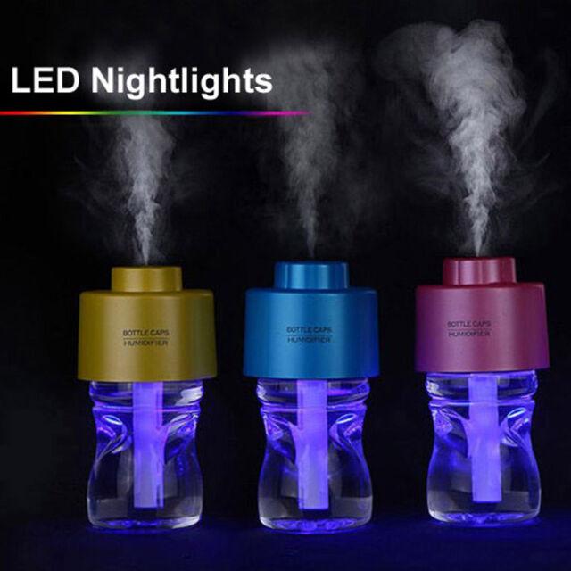 280ml Water Bottle Cap Home Office Car portable USB Air Humidifier Air Diffuser