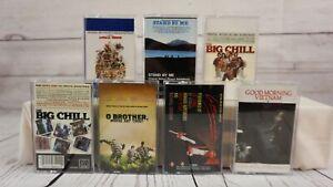 Movie-Soundtrack-Cassette-Tape-Lot-Rock-Hits-Big-Chill-La-Bamba-Stand-By-Me-x7