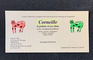 Carton-d-039-invitation-Guillaume-Corneille-Le-Peintre-et-ses-chats-15-Juin-1996