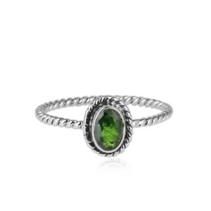 Oxidized 925 Sterling Silver Handmade Chrome Diopside Gemstone Women/'s Ring