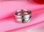 Anello-Coppia-Fedine-Fidanzamento-Amicizia-Amore-Cuore-spezzato-Love-Fedi-Regalo miniatura 2