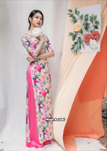 640c925a3 Image is loading Spring-Flowers-Ao-Dai -Authentic-Traditional-Handmade-Vietnamese-