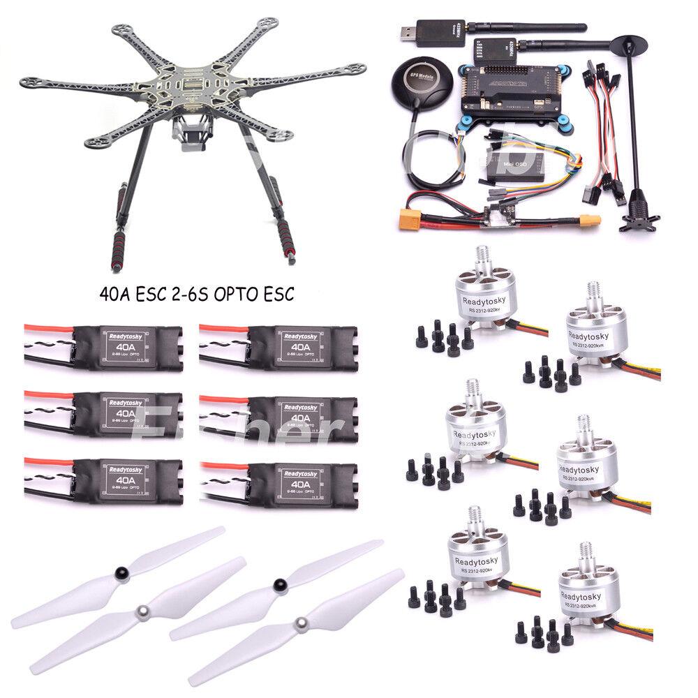 S550 550mm PCB Quadcopter Frame Kit APM2.6 433 telemetry M8N GPS 2312 920kv
