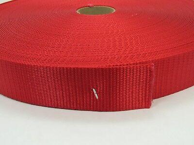 1 1//2 Inch Heavy Nylon Webbing//Strapping Dark Red 1 Yard