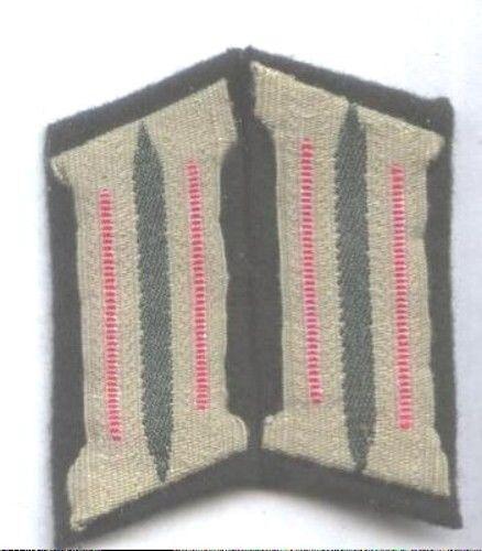 German Army WW2 PANZER pair collar tabs