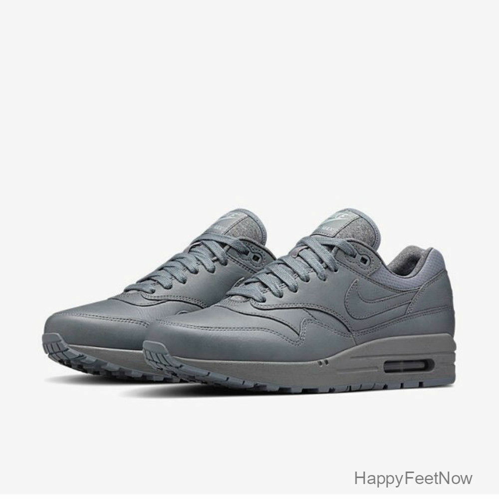 NIKE AIR MAX 1 PINNACLE LEATHER COOL GREY WOMEN'S SHOES SIZE US 6.5 839608-002