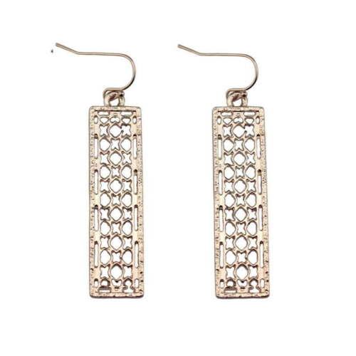 2019 New Fashion Rectangle Géométrique Creux Statement Boucles d/'oreilles pour les femmes Bijoux