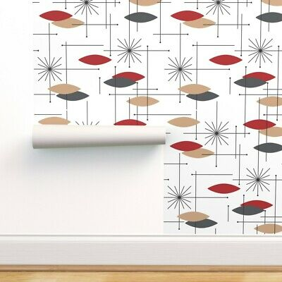 Wallpaper Roll Abstract Geometric Atomic Retro Midcentury Modern 24in x 27ft