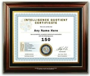 IQ-TEST-SCORE-CERTIFICATE-DIPLOMA-INTELLIGENCE-QUOTIENT-Office-Desk-Decor