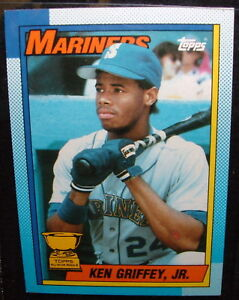 Ken Griffey Jr 1990 Topps All Star Rookie Card 336 Lived In Sleeve