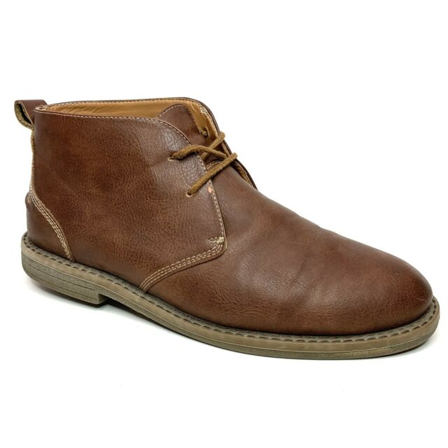 Merona Leather Chukka Ankle Boots Lace Up Brown Size 9 Men's