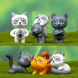 Modish-6Pc-Set-Kawaii-Zakka-Unhappy-Cat-Doll-Diy-Cartoon-Figure-Toy-Kids-Gift