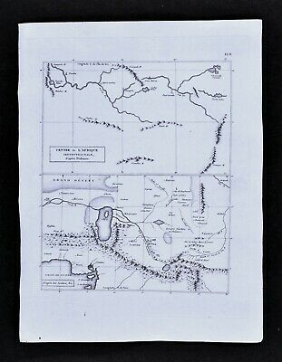 1804 Pinkerton Map Central Africa Niger River Mountains of Kong ...
