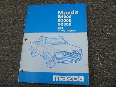 1994 Mazda B4000 B3000 B2300 Truck Electrical Wiring ...