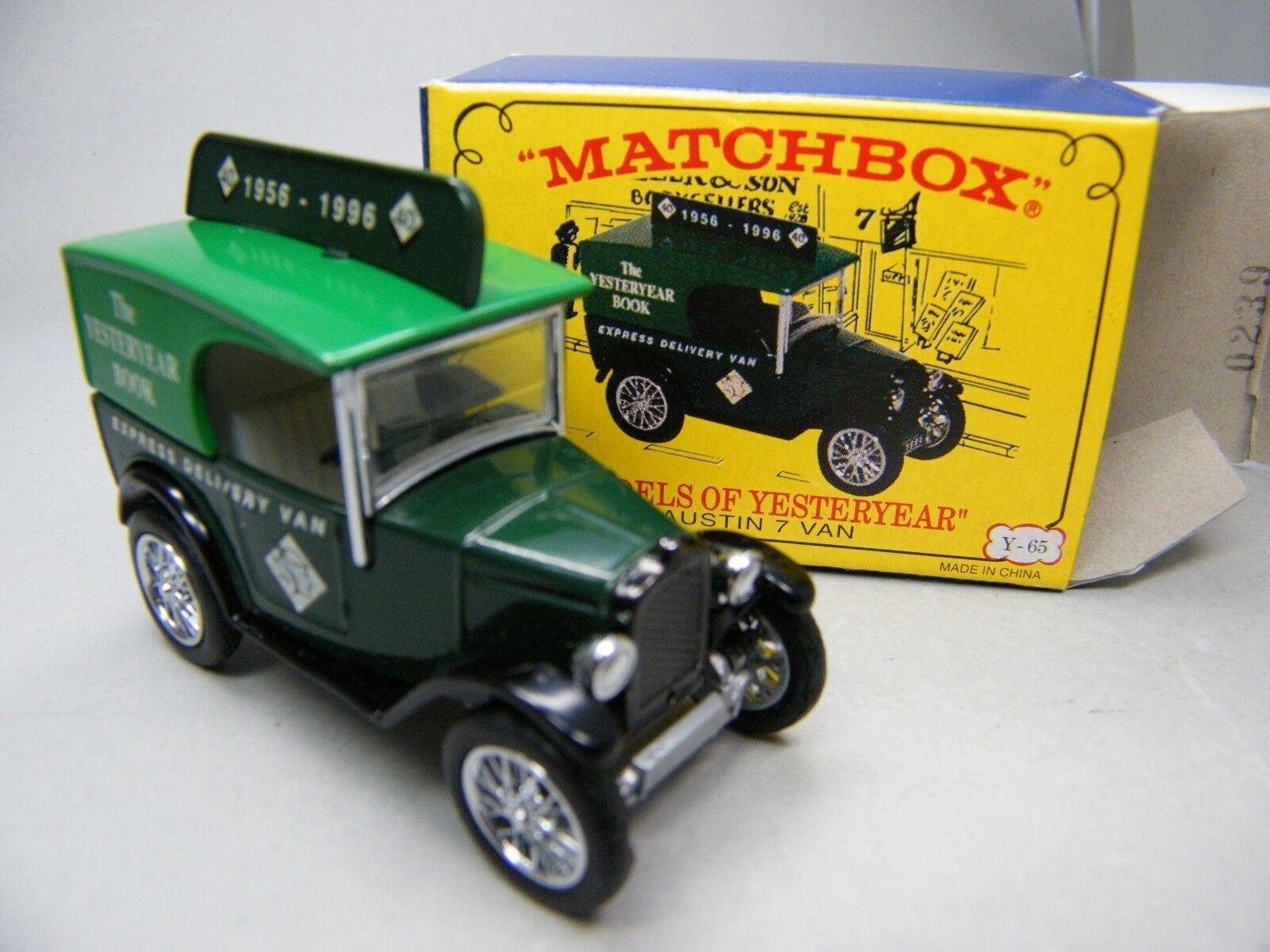 Matchbox MoY C2 Y65 Y65 Y65 Austin 7 MICA Yesteryear Book grün Sitz weiß OVP Bilder K04  | Zuverlässige Leistung  218df9