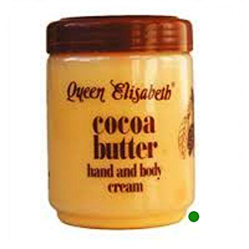 Burro di cacao cocoa butter Queen Elizabeth crema cream per corpo e mani 500 ML