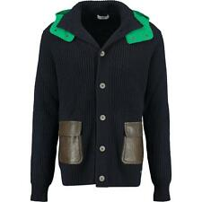 Iceberg wool knit Cardigan Jacket Coat with Hood L rrp385GBP