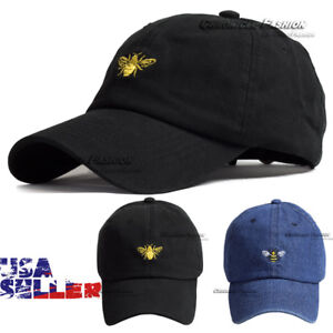Cotton-Baseball-Cap-Hat-Embroidered-Washed-Polo-Style-Adjustable-Mens-Dad-Hats