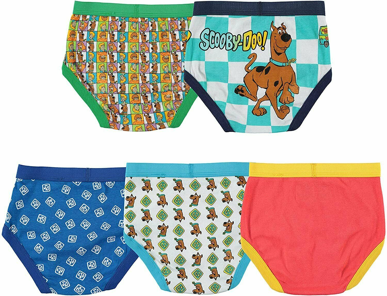 Scooby Doo Underwear Underpants Briefs Boys 5pk 4 6 8 Cotton  NIP
