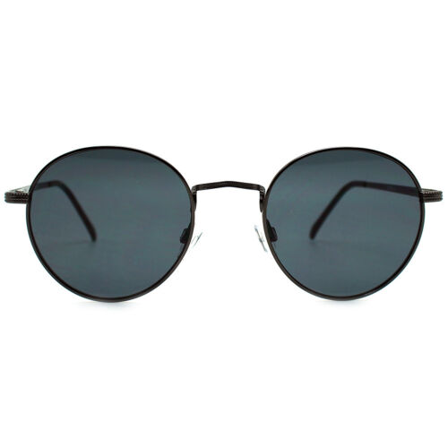 "NEW 7 LUXE Gunmetal /""JETSETTER/"" Round Sunglasses SALE"