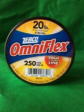 Zebco OMNIFLEX MONOFILAMENT FISHING LINE 12 LB 700 YD CLEAR Abrasion Resistant