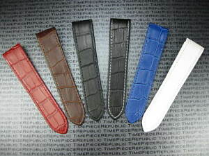 7a1e33f3f64 23mm Leather Strap Extra Large Watch Band CARTIER SANTOS 100 XL 38mm ...