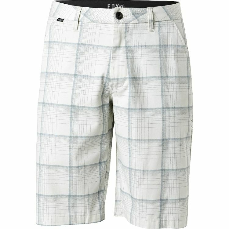 SALE  NEW FOX RACING MEN ESSEX PLAID SHORT VINTAGE WHITE sz 32 code 12-36