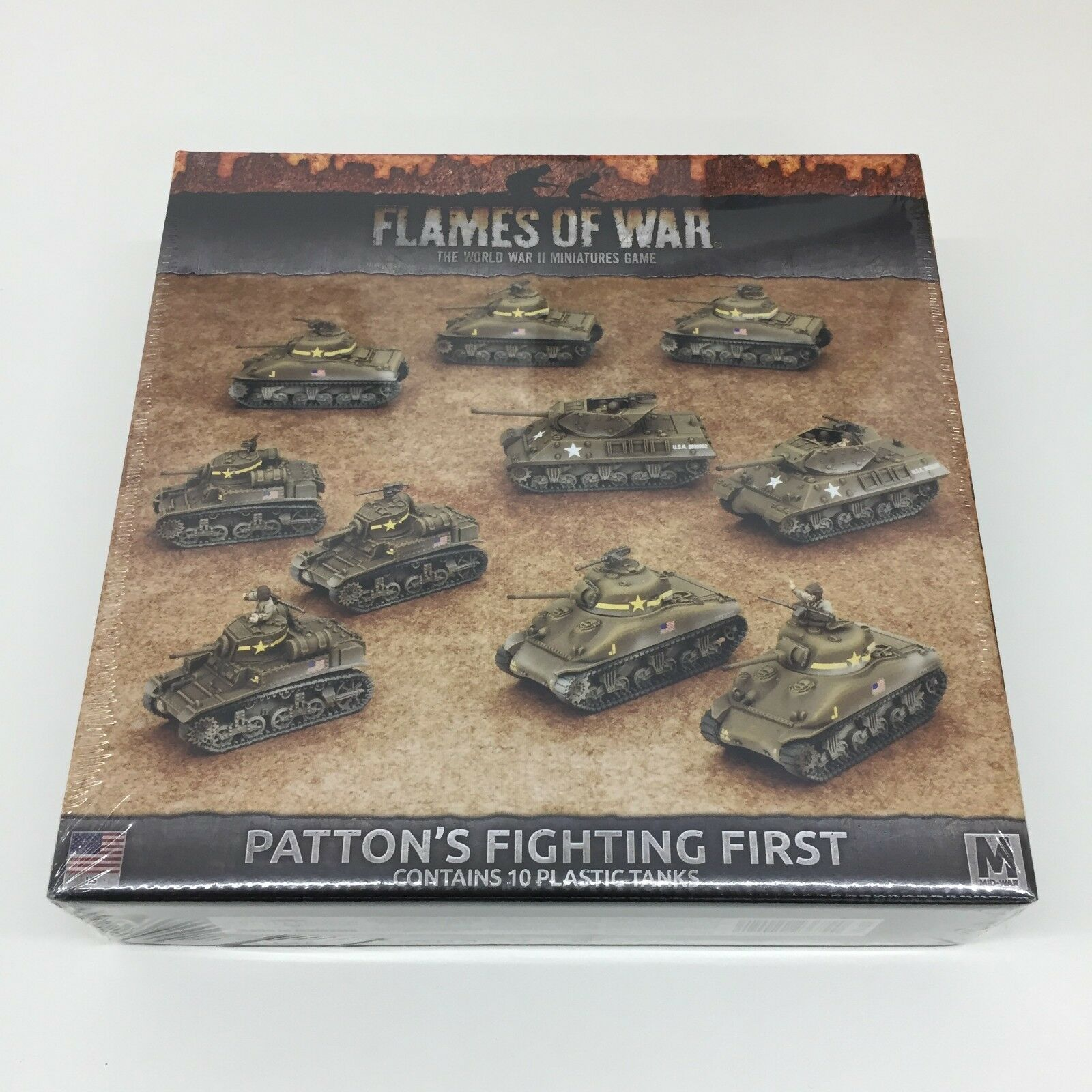 BATTLEFRONT FLAMES OF WAR PATTON'S FIGHTING FIRST BOX (NEW) WORLD WAR II WWII