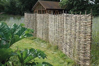 Woven Wooden Hazel Hurdle Fence Panel 6ft Natural Garden