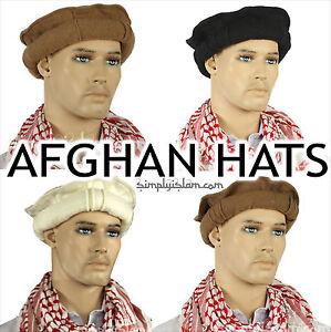 Afghan Hat Ethnic Pakul Pakol 100% Wool Taliban Style Beret 6 ... f6847d155ed