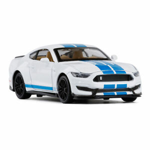 1:32 Ford Mustang Shelby GT350 Model Car Diecast Toy Collection Sound White Kids