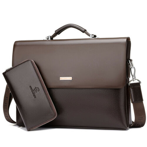 Men Business Laptop Shoulder Bag Document Briefcase Travel Rucksack Wallet Purse