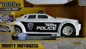 Large-Tonka-Mighty-Motorised-Police-Car-Lights-Sounds-Working-Wheels-16-034-LONG