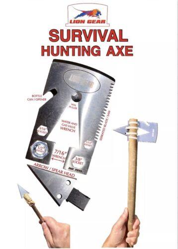 .EDC SURVIVAL CARD AXE TOMAHAWK Hunting Fishing Credit Card Size Multi-Tool