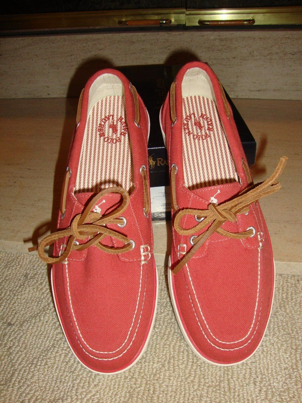 SPORTY NWB POLO RALPH LAUREN CASUAL SLIP ON SHOES IN RED