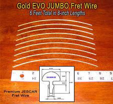 6 Feet Premium Jescar Gold EVO JUMBO Frets/Fret Wire  for Guitar & Bass 10-09-02