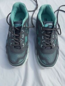 Womens Athletech SHOES 8M Gray Teal