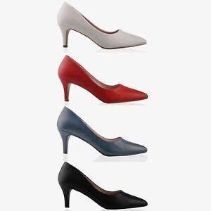 5178af1aadd6ce Escarpin Femme Talon Moyen Sexy Noir Bleu Blanc Rouge Solde Chic ...