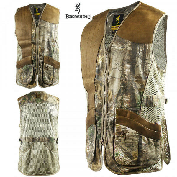 brauning Crotver Leather Shooting Vest RTX  Leather S M XXL Trap Skeet Clay