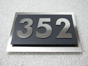 10 cm, 0 schwarz Gr/ö/ße konfigurierbar ZALAFINO Hausnummer aus Edelstahl in anthrazit Edelstahl natur 0-9 und a-d DB703