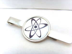 GroßZüGig Atom Symbol Atomic Chemie Physik Nukleare Bio Strahlung Krawattenklammer Uhren & Schmuck Krawattennadeln