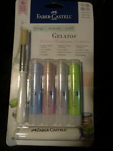 Faber Castell GELATOS 4 Twist Up Pigments Macarons Color Set Pastel type colors