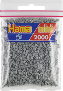 Pack of 2000 Hama MINI Beads 501-17 Grey