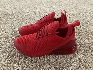 Nike Air Max 270 GS Running Shoes Triple Red CW6987-600 Youth Size ...
