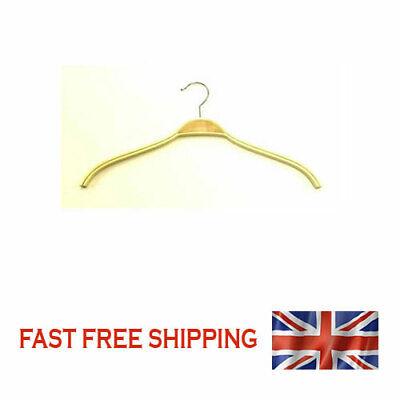 Hangers Wooden simple KI-1501-2 wooden hangers RAW WAXED 42 cm