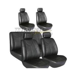 Kunstleder Sitzbezüge Sitzbezug Schonbezüge für Opel Frontera Schwarz Set